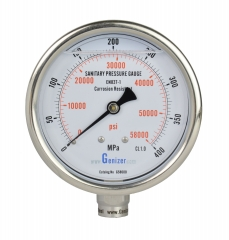 Sanitary High Pressure Gauge 60000psi